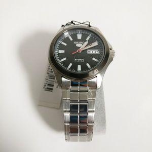 Seiko 5 Men's Watch Stainless Steel Black Dial